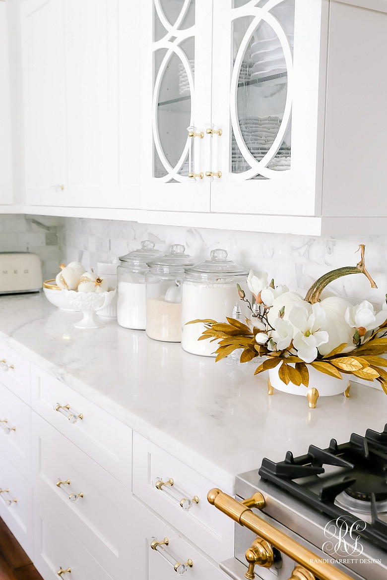 white gold fall decor