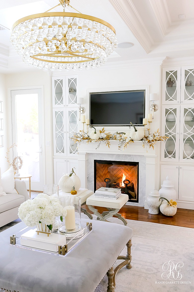 white gold fall mantel