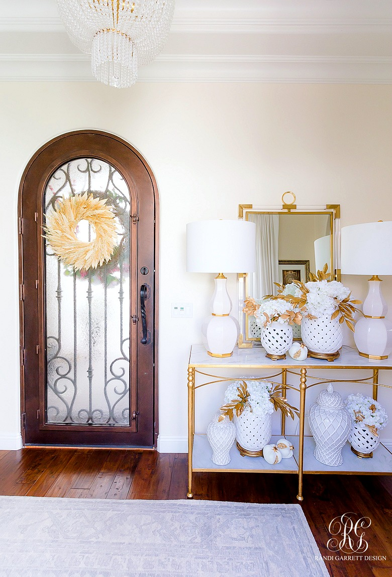 glam fall entryway