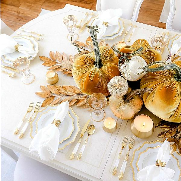 Golden Harvest Fall Table