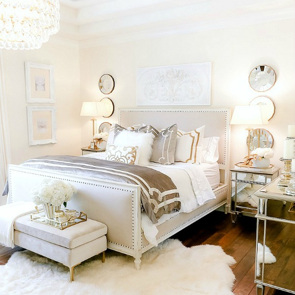 Luxurious Silver and Gold Fall Bedroom