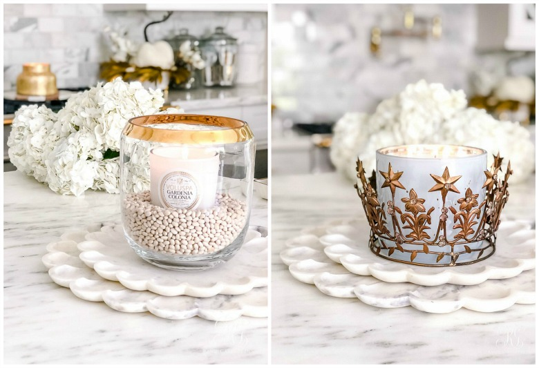 fall candle styling