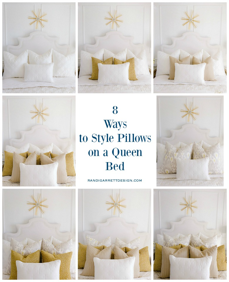 7 Ways To Style Pillows On Your Bed, Queen Bed Pillows