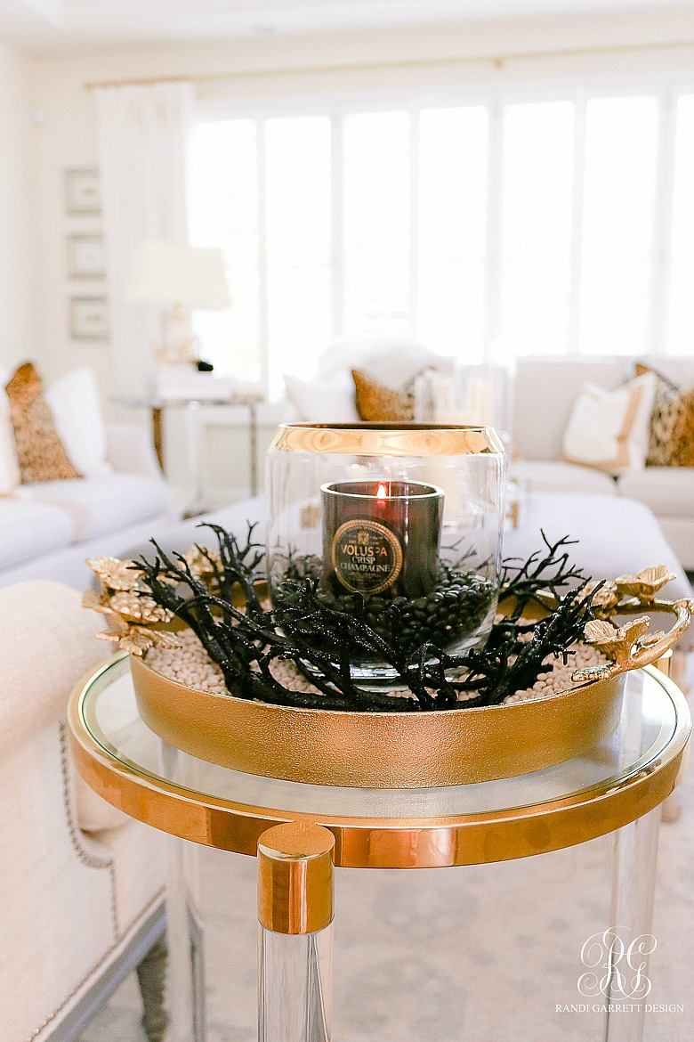 black gold candle - Halloween decorating ideas