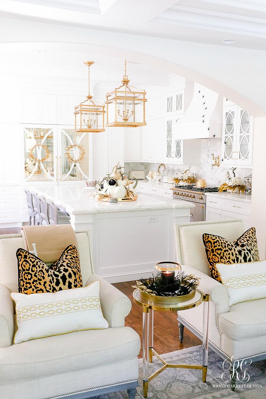 gold glam Halloween decor
