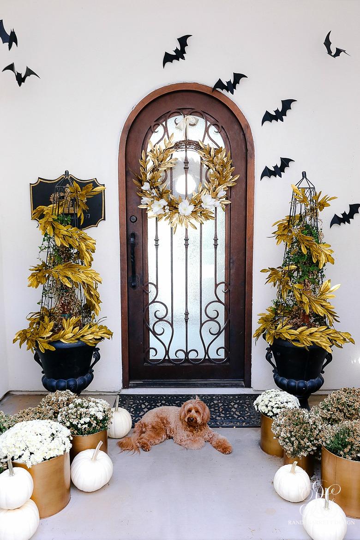 Glam Gold Halloween Home Tour - halloween porch