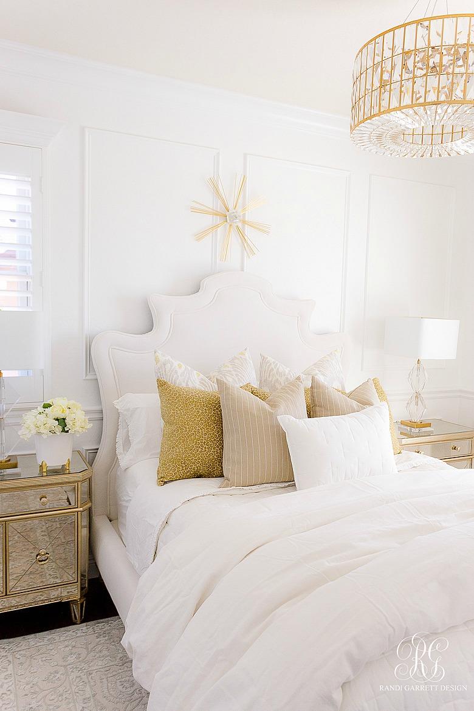 White gold elegant bedroom