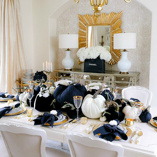 Chanel Inspired Glam Halloween Table