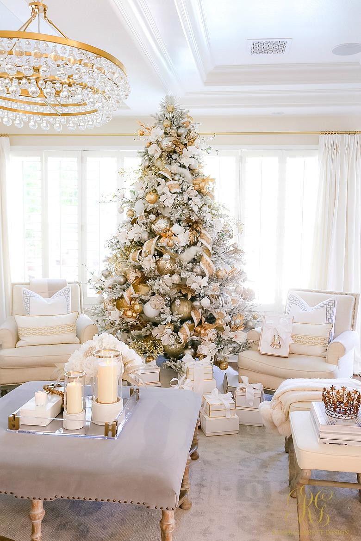 White gold christmas tree