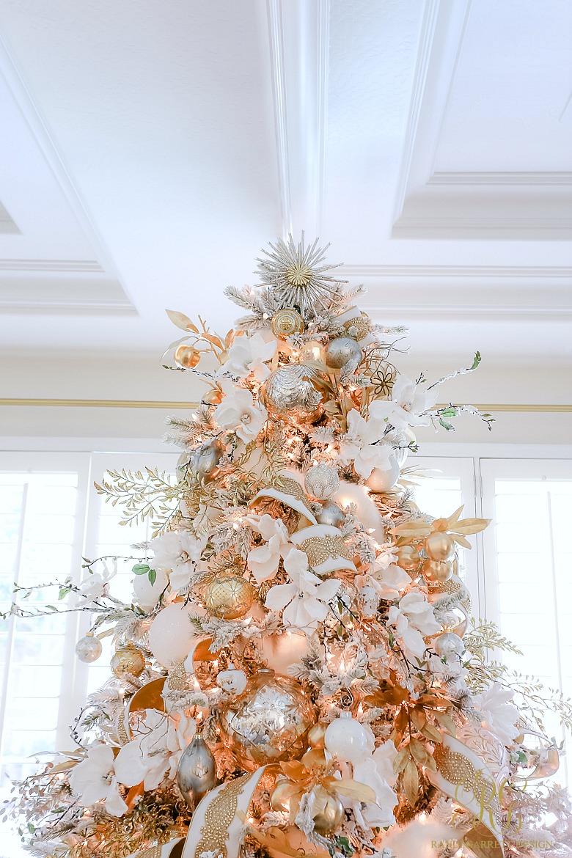 glamorous white gold Christmas Tree