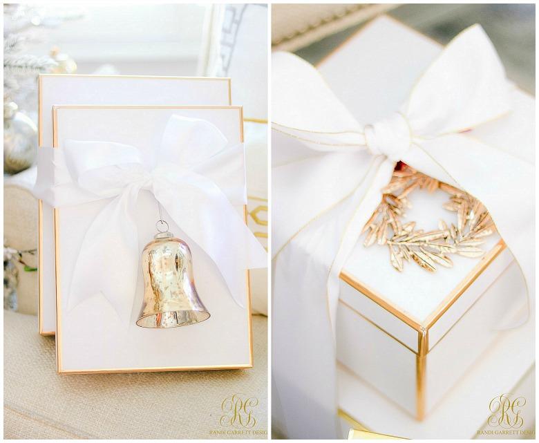 white gold Christmas boxes