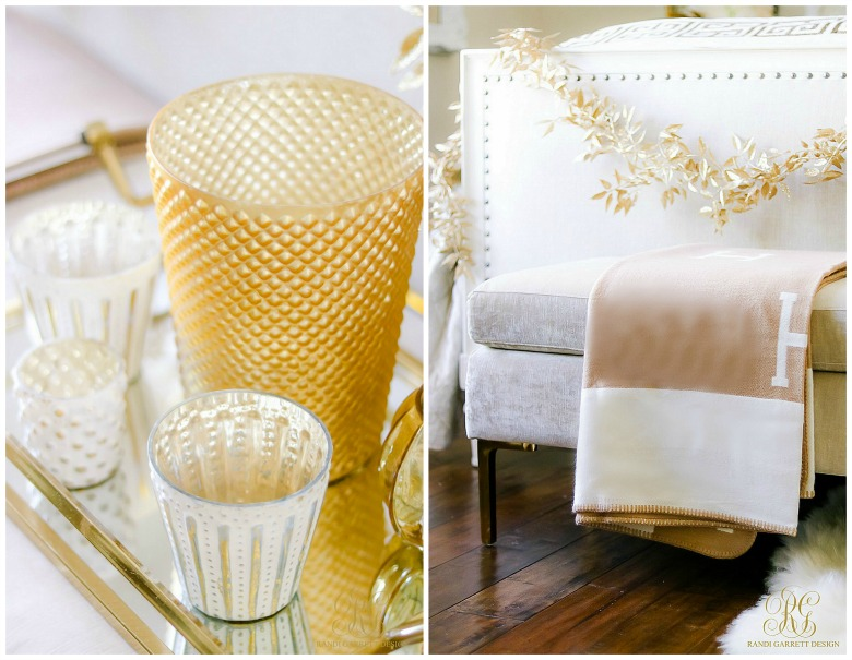 gold votive candles - camel H Throw
