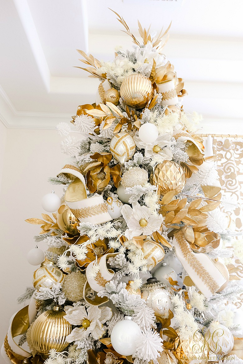 Beautiful White and gold christmas tree