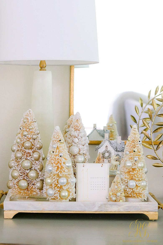 White And Gold Christmas Kitchen Randi Garrett Design