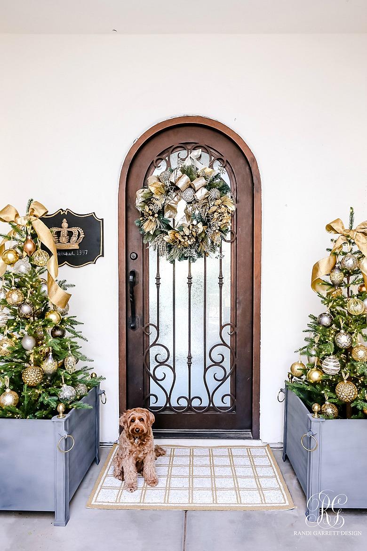 elegant christmas porch