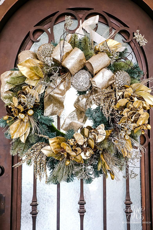 elegant gold christmas wreath