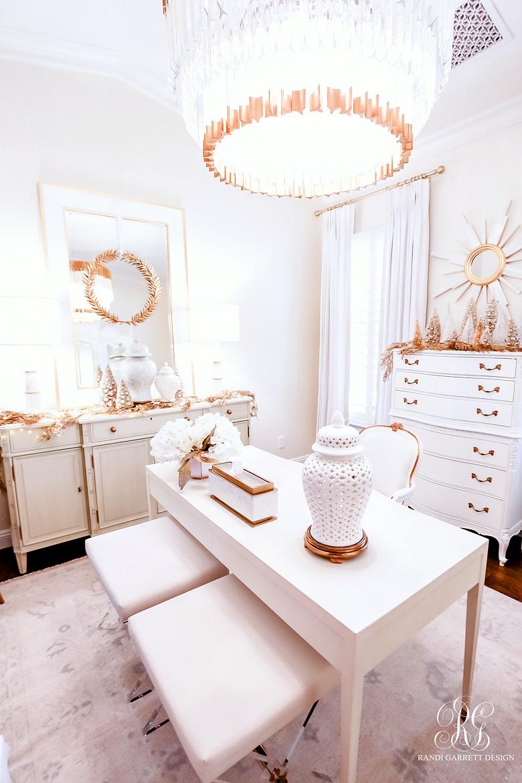 elegant white gold christmas office