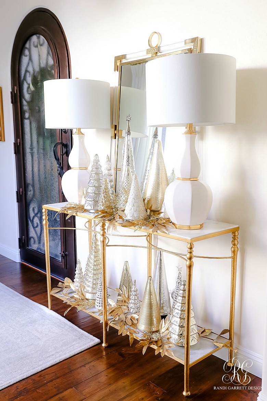elegant christmas entry table