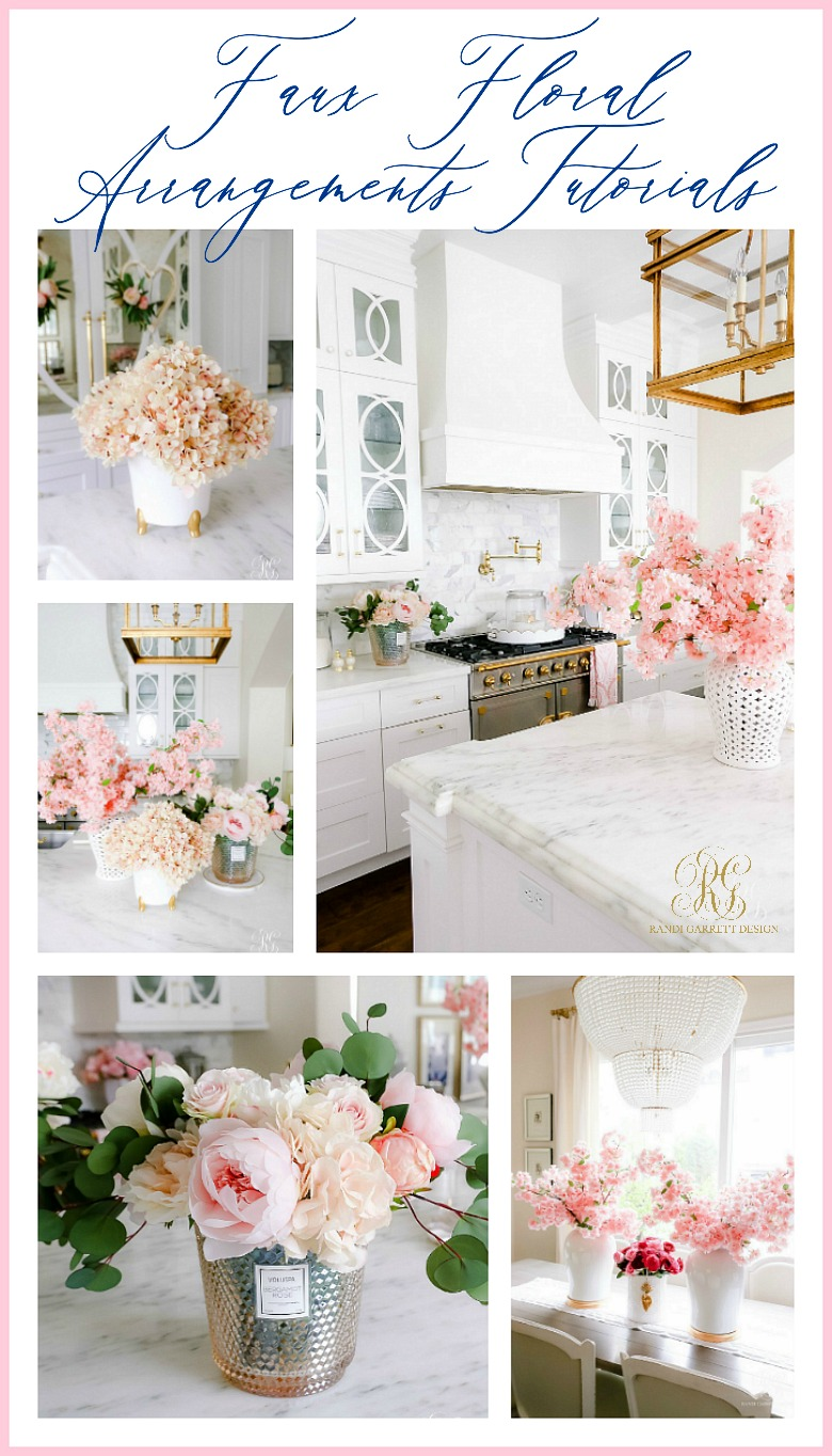 Simple Valentine S Day Faux Floral Arrangements Randi Garrett Design