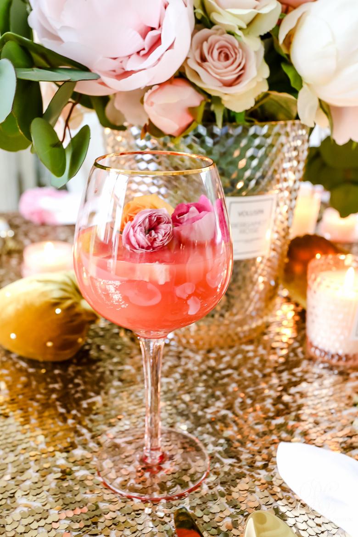 edible rose drink pretty valentine drink
