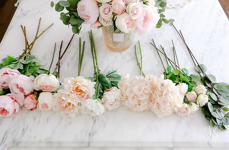 Simple Valentine's Day Faux Floral Arrangements