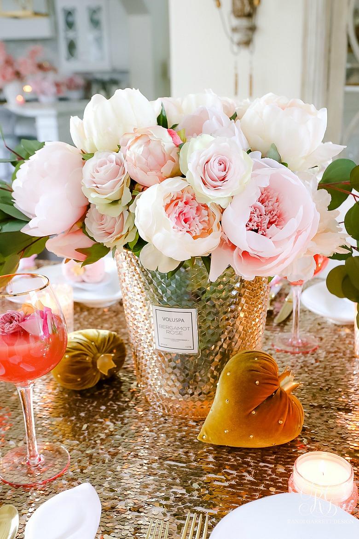 pink peony arrangement