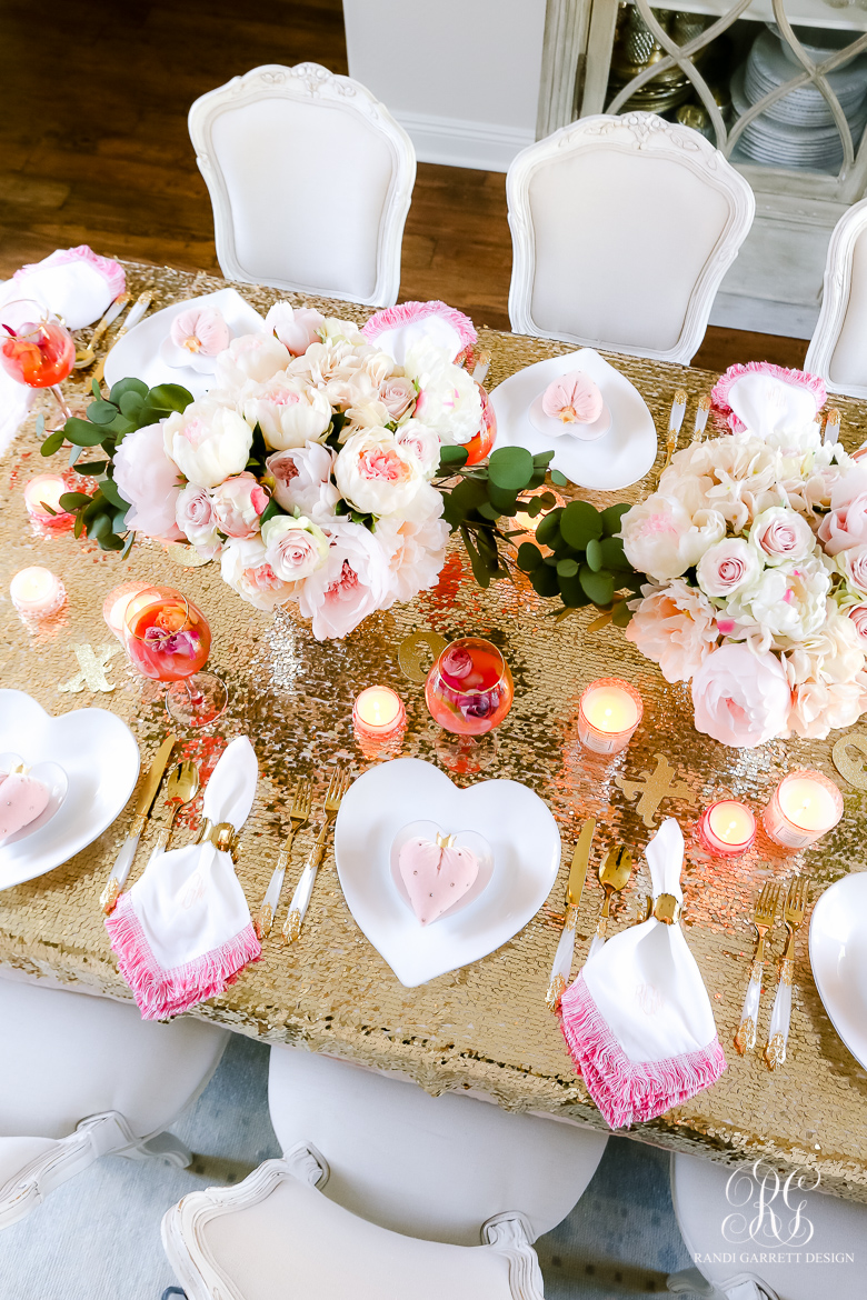 Pink Peony Valentine's Day Table