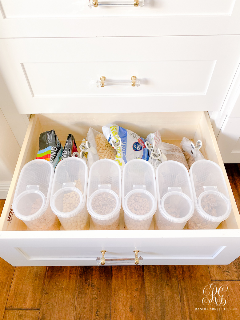 cereal drawer organizers