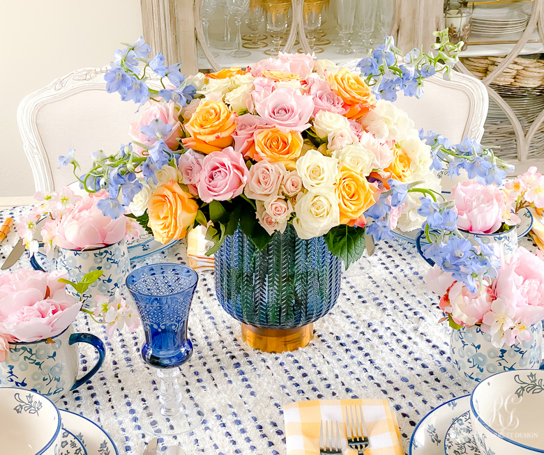 Cheery Spring Table spring flower arrangement