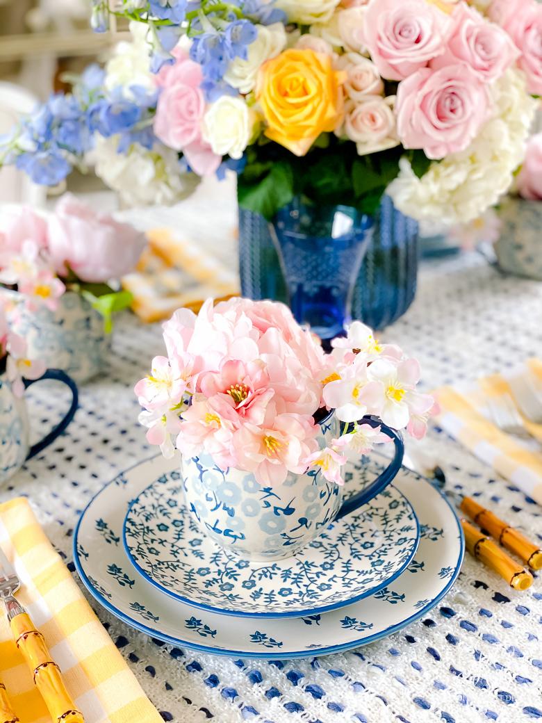 teacup arrangements