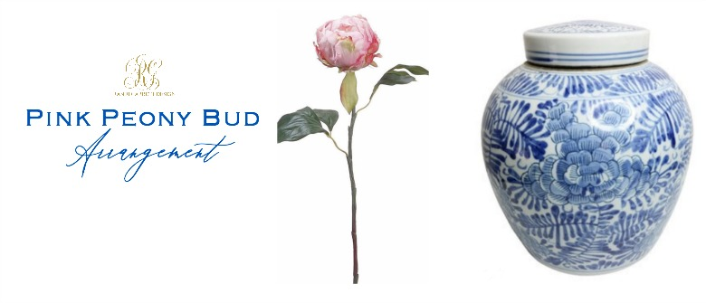 pink peony bud arrangement