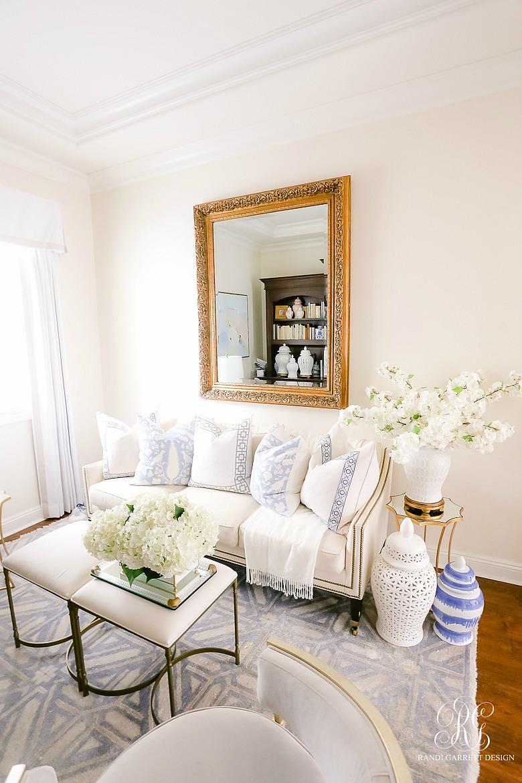 white cherry blossom arrangement