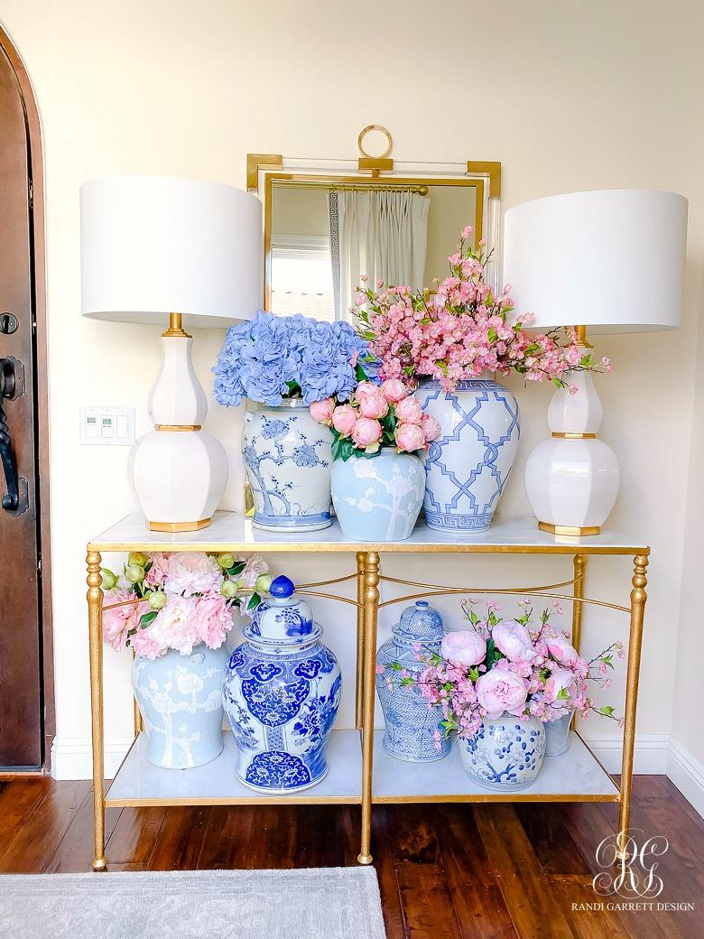 Simple Spring Faux Floral Arrangements