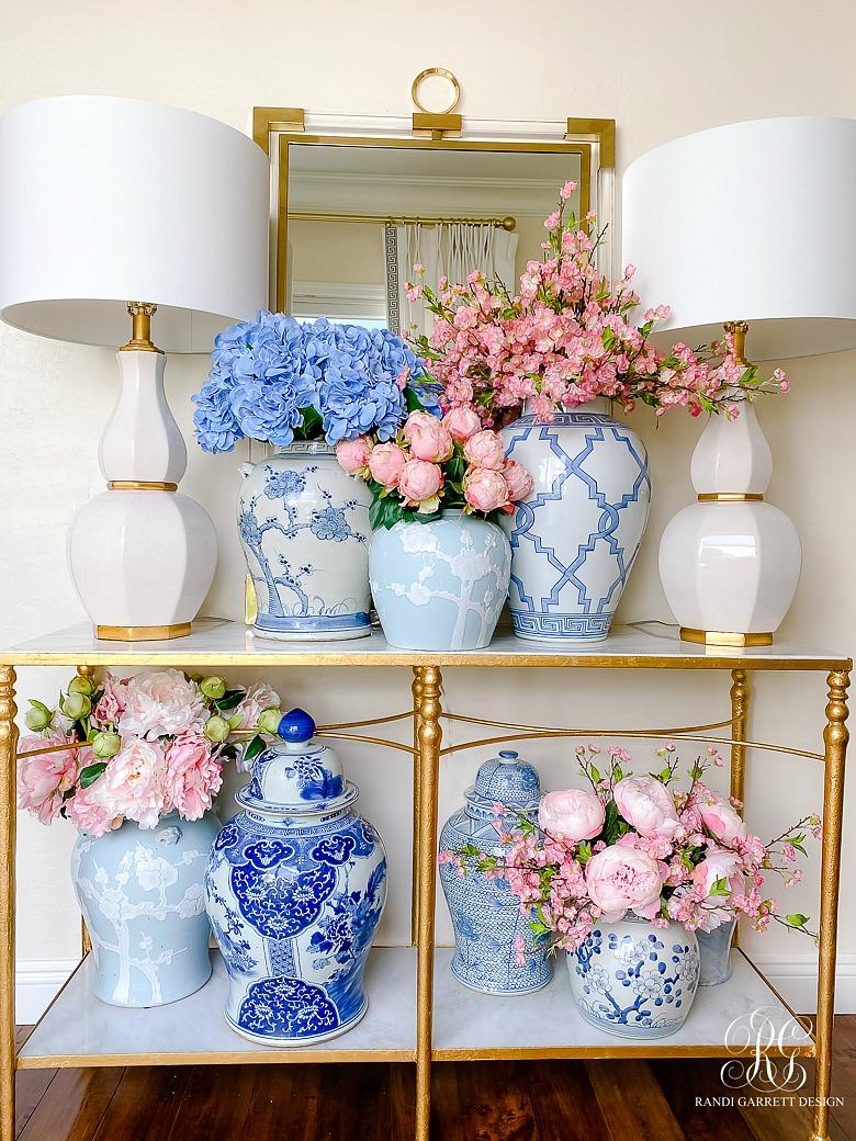 Simple Spring Faux Floral Arrangements Randi Garrett Design