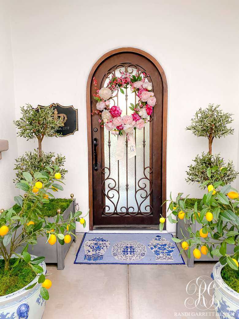 Vibrant Spring Porch + Outdoor Decor - Randi Garrett Design