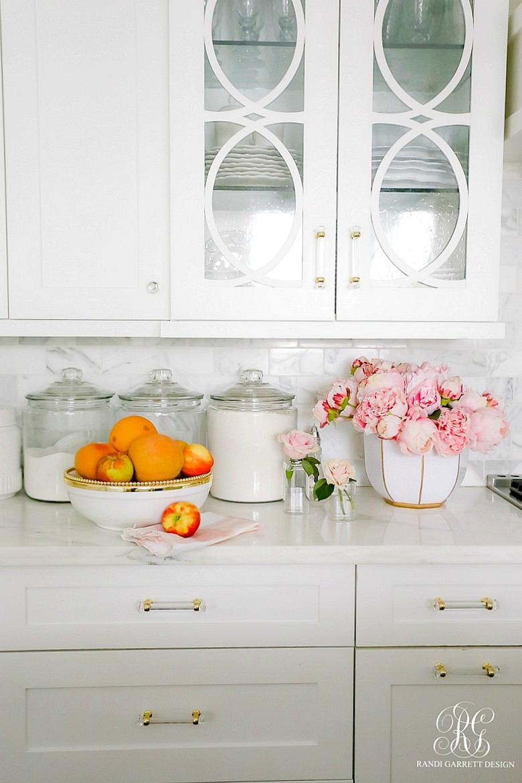 white kitchen cabinets - glam kitchen