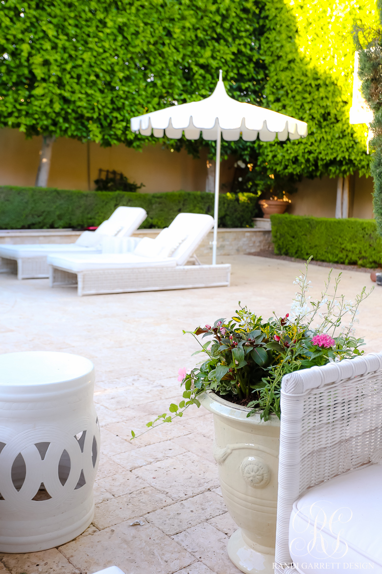 glam outdoor space