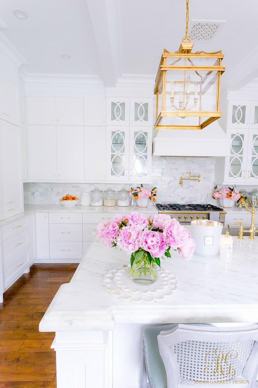 white kitchen mullion cabinets