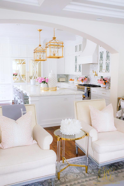 gorgeous white kitchen mullion cabinets