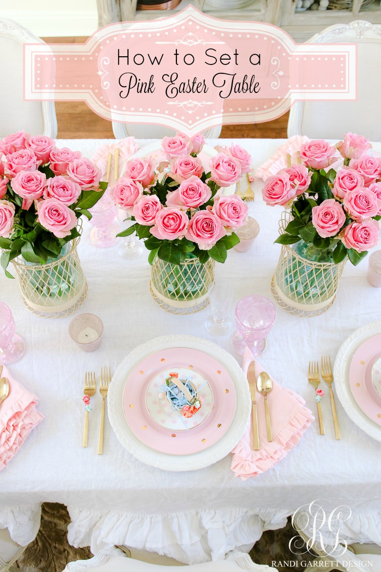 pink easter table