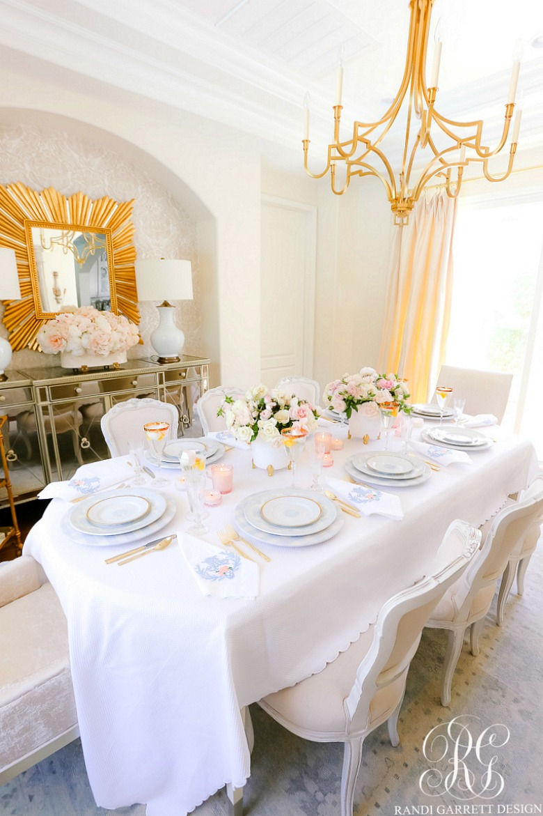 beautiful dining room mothers day table