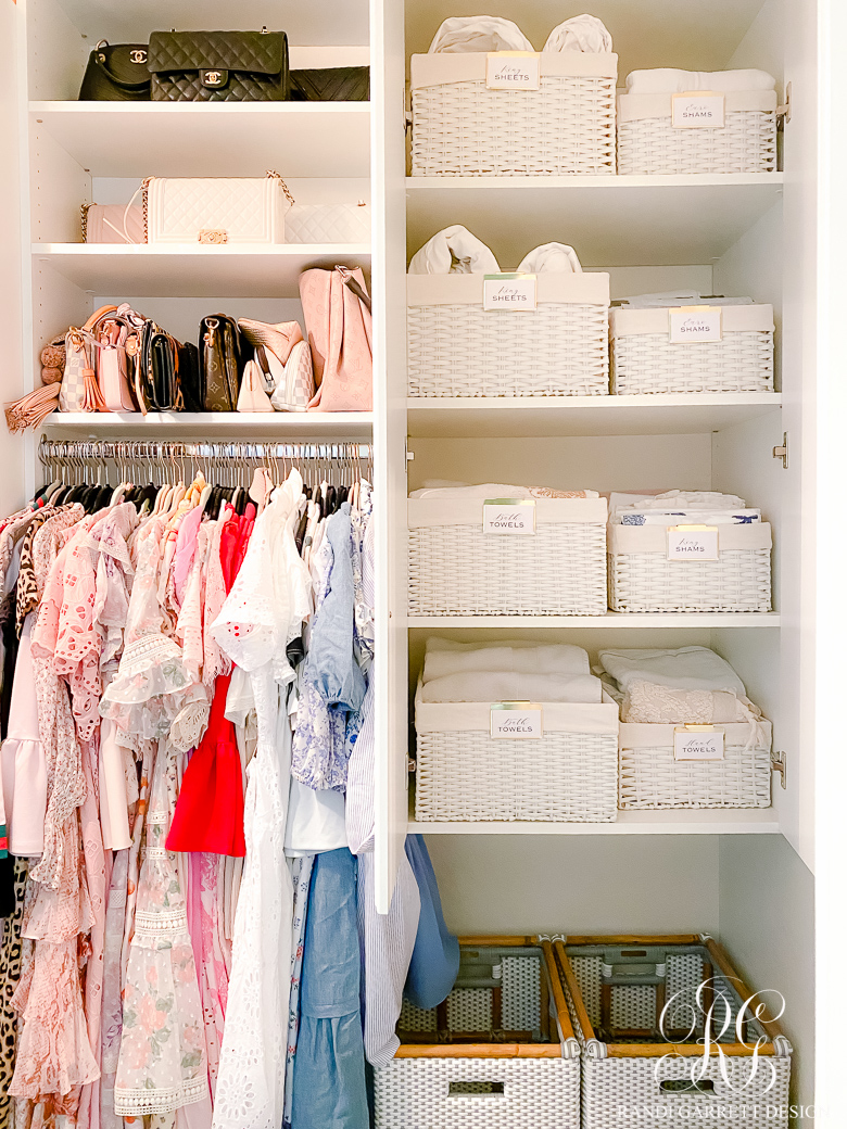 Simple Closet Organizing Ideas - Randi Garrett Design