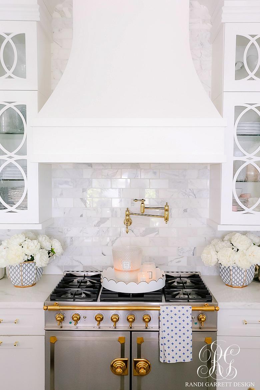 La Cornue range white kitchen cabinets