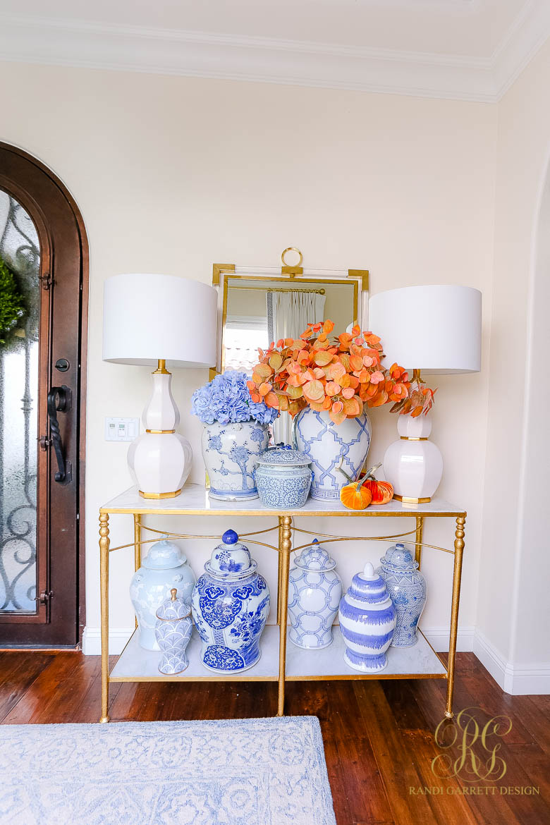 Fall Home Tour - Entry and Office fall styling tips