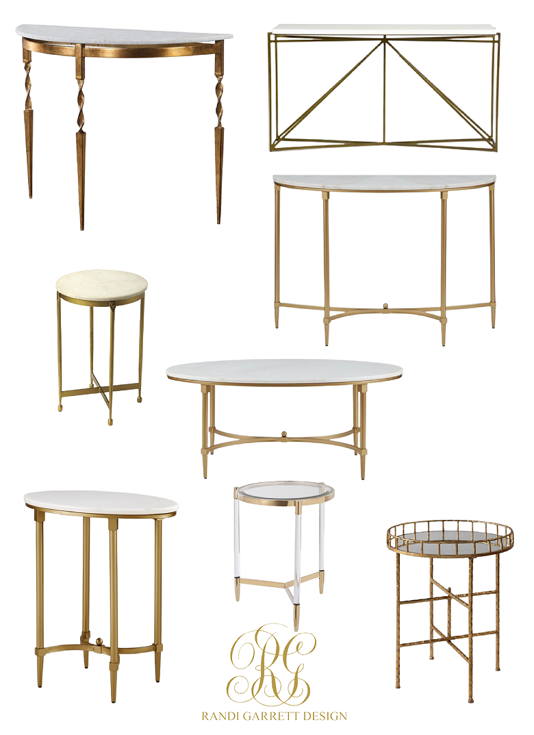 marble brass accent tables