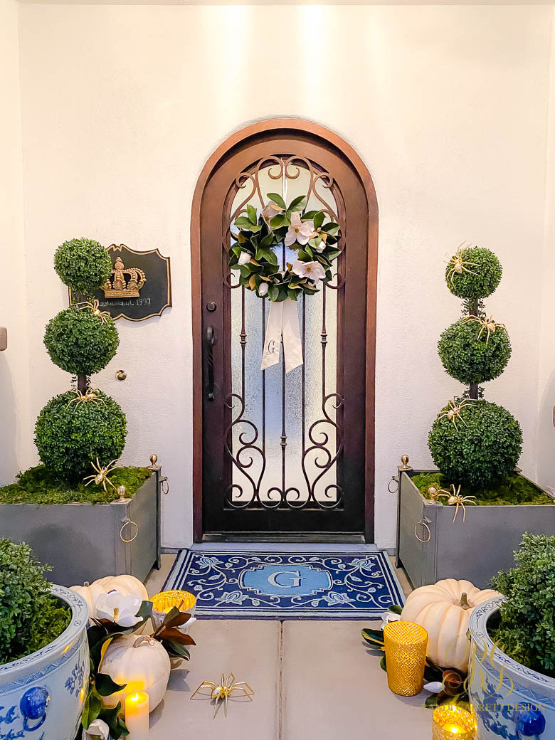 chic halloween porch