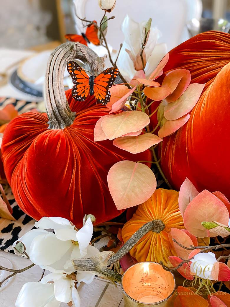 Orange Butterfly Fall Table
