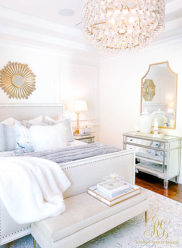 Glam Bedroom Mini Makeover