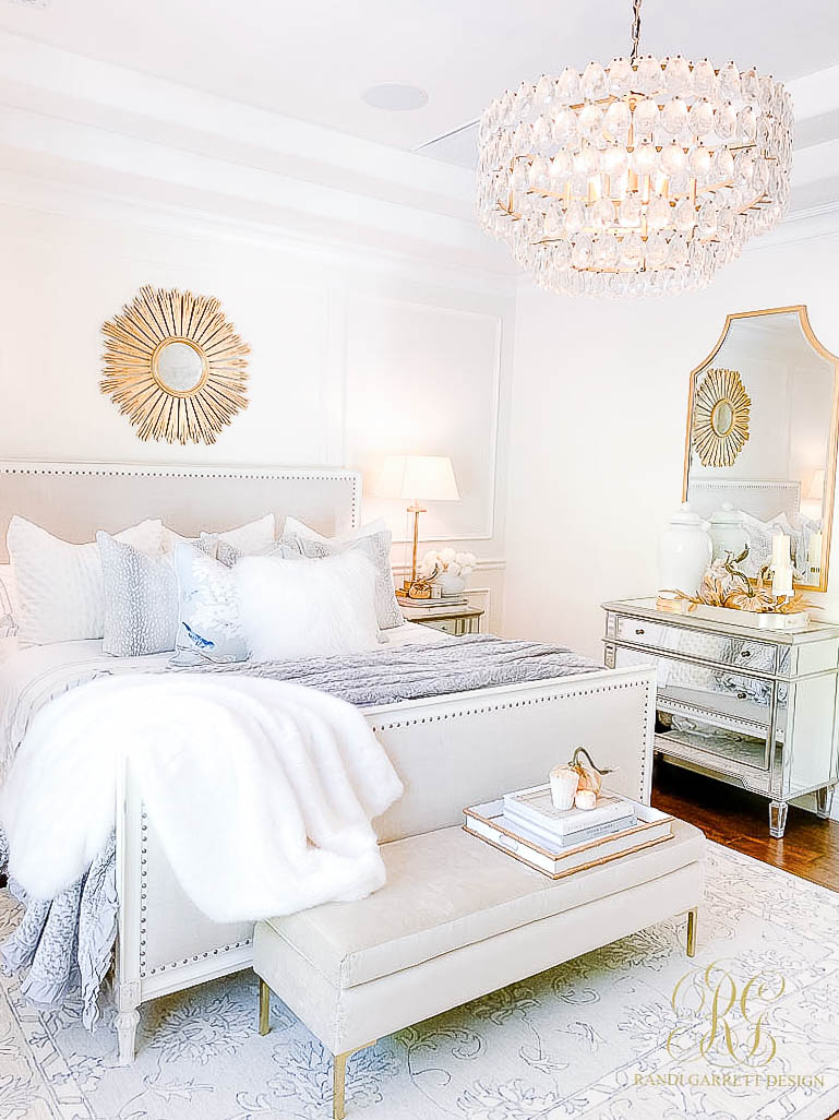 Glam Bedroom styled for Fall