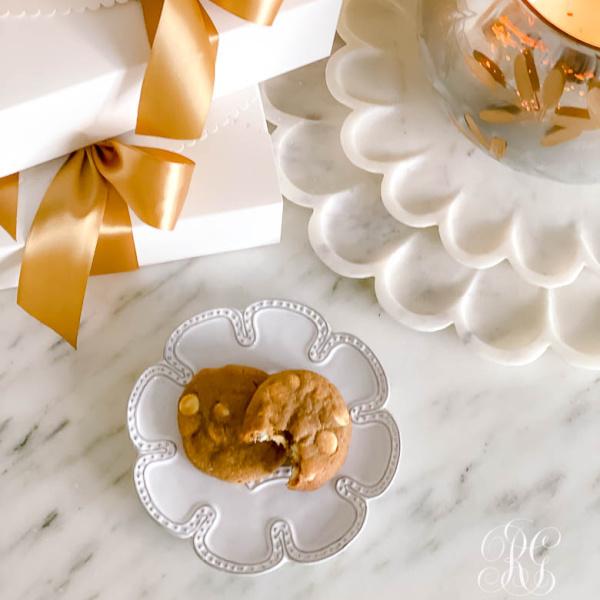 Orange Gingerbread White Chocolate Chip Cookies
